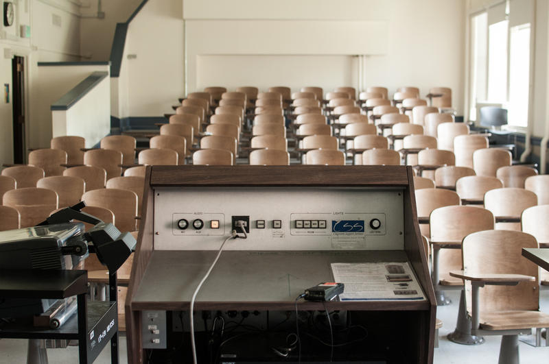 A classroom at the University of Washington, 2012.