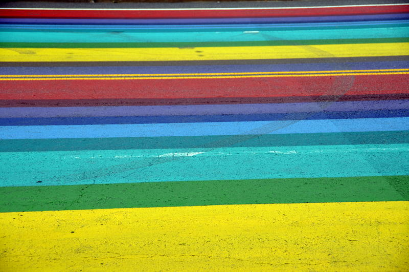Seattle isn't the first place to get rainbow crosswalks. This is the Crystal City section of Arlington, Virginia.