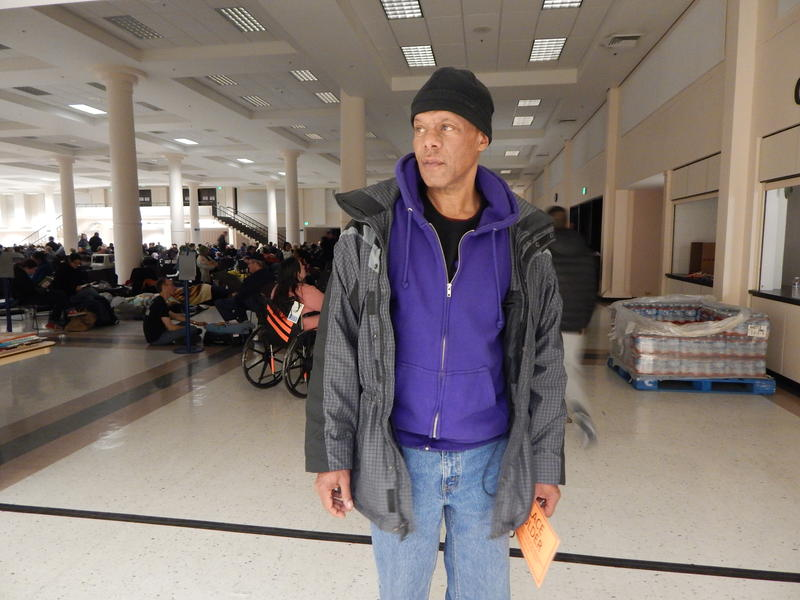 Navy veteran Donald Lollis said he's been sleeping on the streets for six months. 'They give you an honorable discharge and you just do the best you can. And that's how I've been living.'
