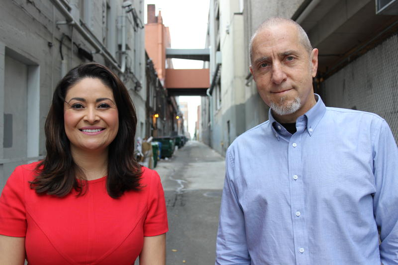 Seattle City Council position 9 candidates Lorena Gonzalez and Bill Bradburd.