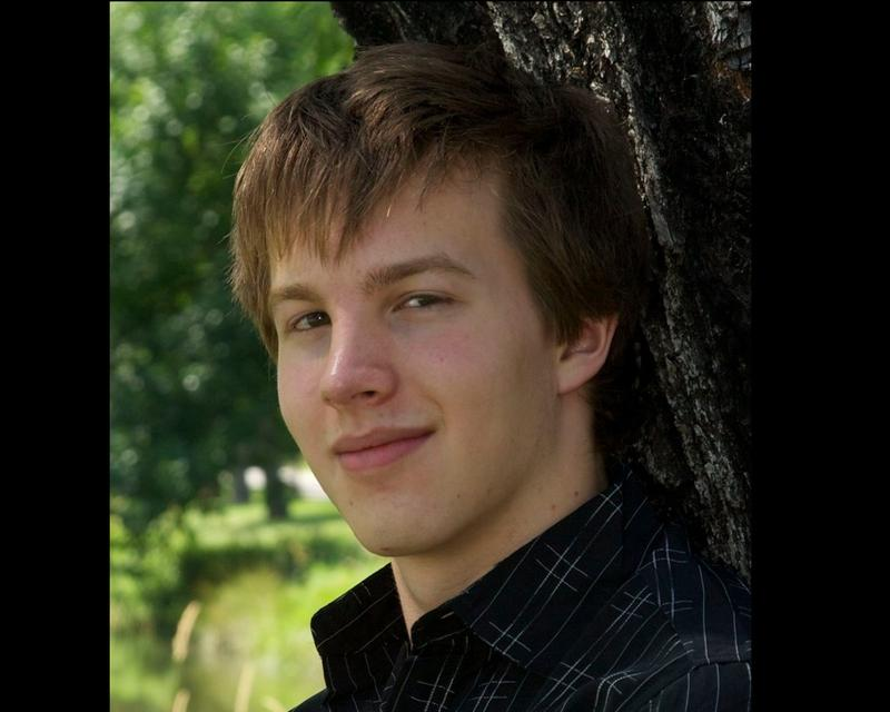 Daniel DeHollander's senior photo. He committed suicide in 2014 at age 18.