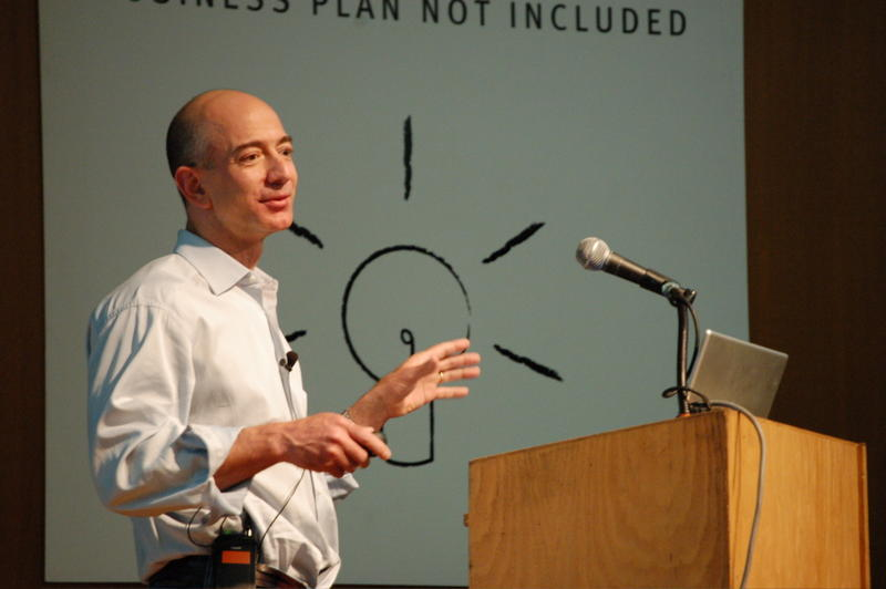 Jeff Bezos, founder of Amazon.com.