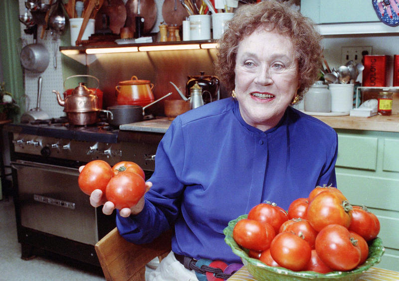Julia Child was tired of hearing people complain about salt, cholesterol and fat. Try moderation and exercise, she said. This photo was taken in 1992, two years after her interview with KUOW's Ross Reynolds.