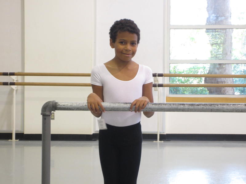 Second year DanceChance student, in the PNB studio