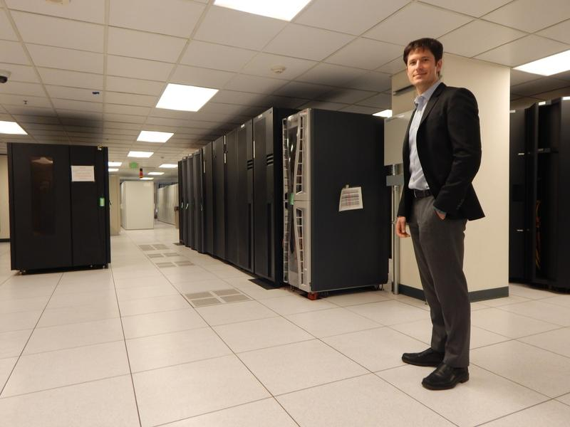 Michael Mattmiller in one of Seattle's secret data centers. He says data helps government work better, but he's trying to cut back a bit and disseminate a uniform data privacy policy across all city departments.