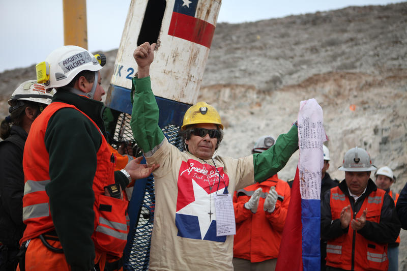 Mario Gómez, the eldest miner, was the ninth to be rescued from the San José Mine during 'Operación San Lorenzo'