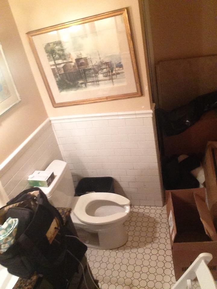 A waitress sent us this photo of where she pumps. She said she had to scrub the toilet before she dared to sit on it while pumping.