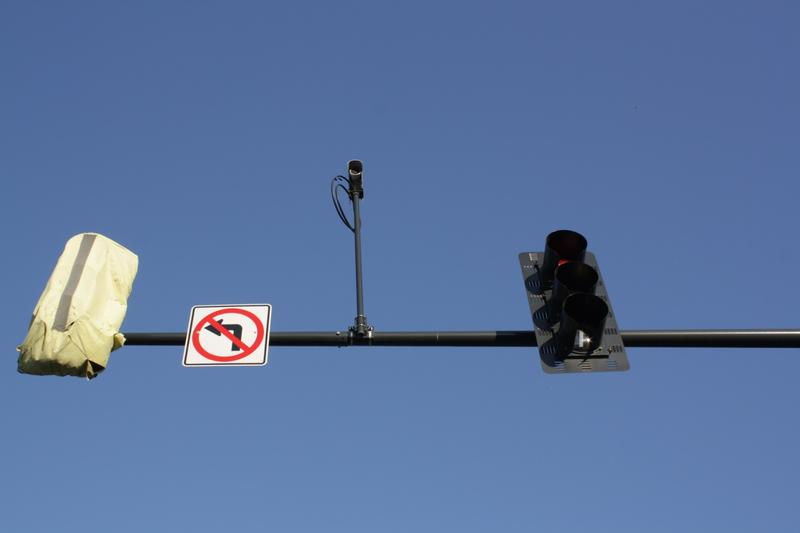 A traffic camera on Mercer Street