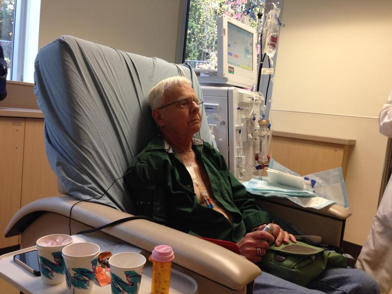 Chuck Lee, 73, goes in for dialysis three times a week. Each session takes four hours.