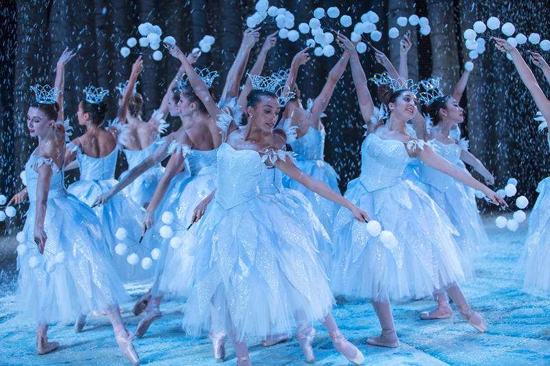 "Pacific Northwest Ballet company members in George Balanchine's ""The Nutcracker."""