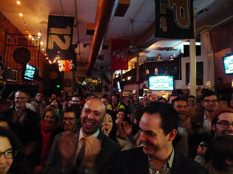 It was a packed -- and happy -- party for Move Seattle on Tuessday night as the results came in.