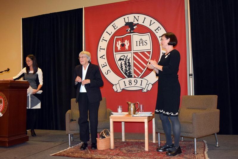 Author Ursula K. Le Guin at Seattle University.