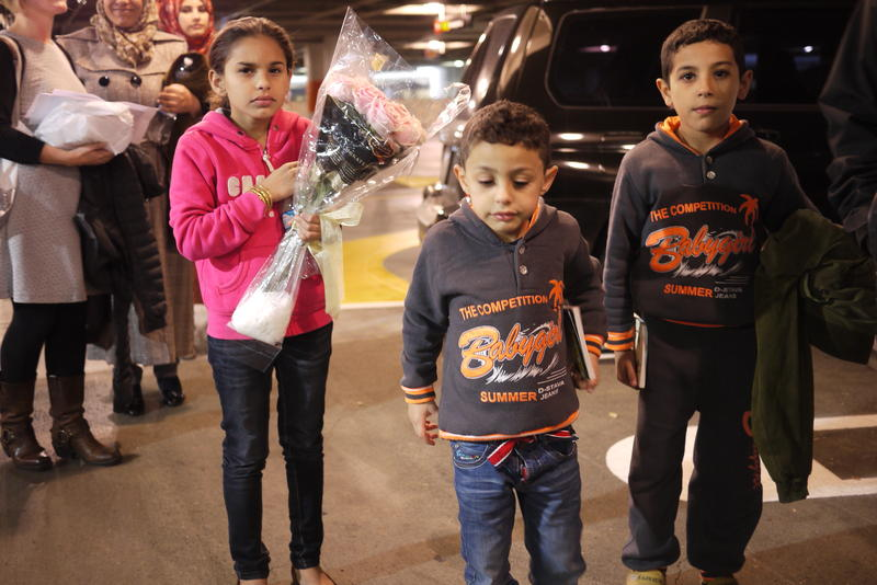 A Syrian refugee family arrives in Seattle in 2015.