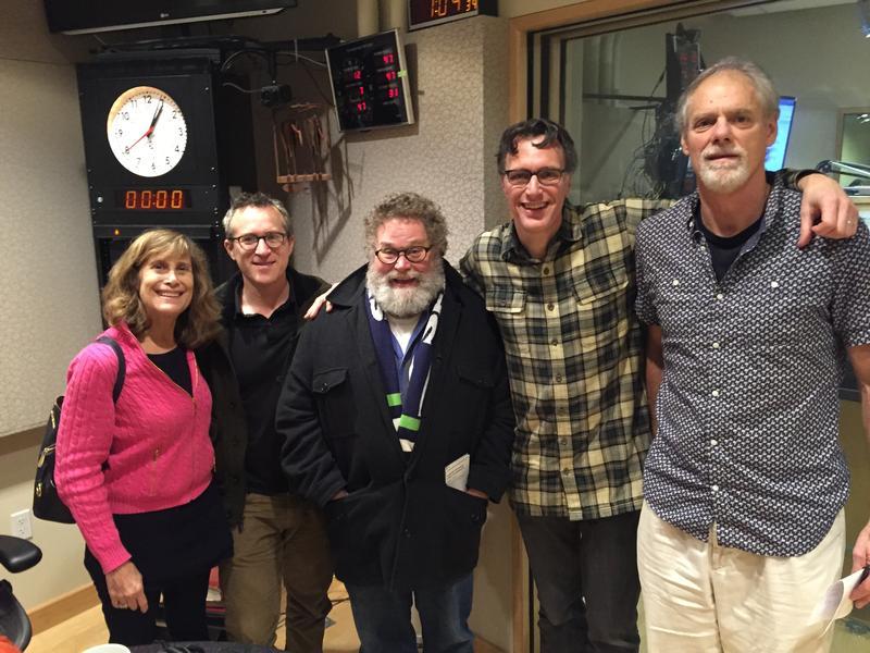 'Week in Review' panel Joni Balter, Eli Sanders, Knute Berger, Bill Radke and Nick Bond.