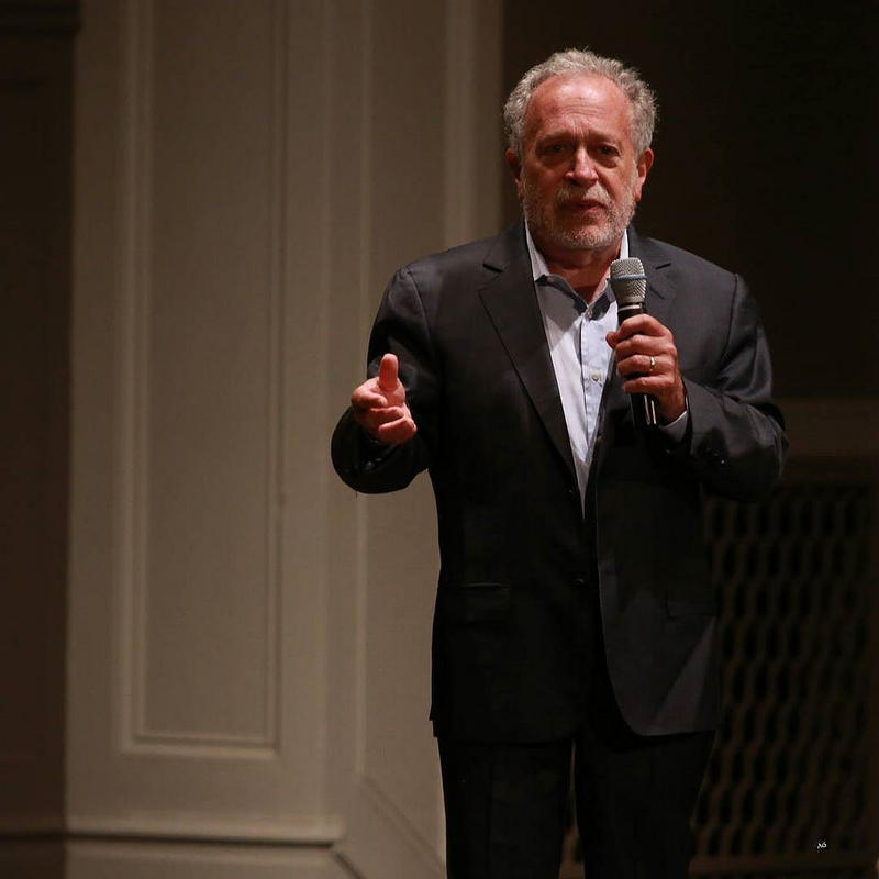 Professor Robert Reich at Town Hall Seattle on Oct. 19, 2015.