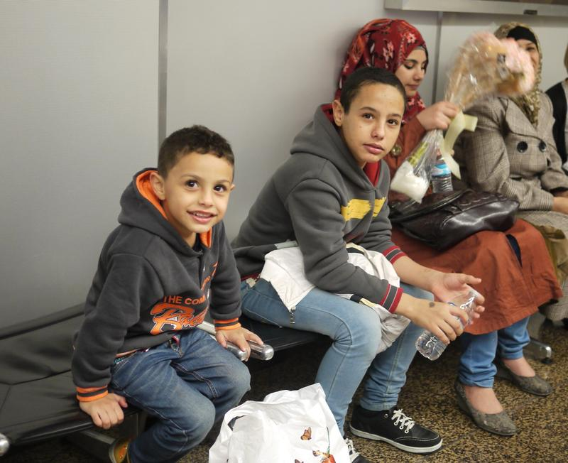 Members of the Alhamdan family arrived at Sea-Tac Airport recently. They joined a tiny community of about 25 Syrian refugees who've arrived in Washington in the past few years.