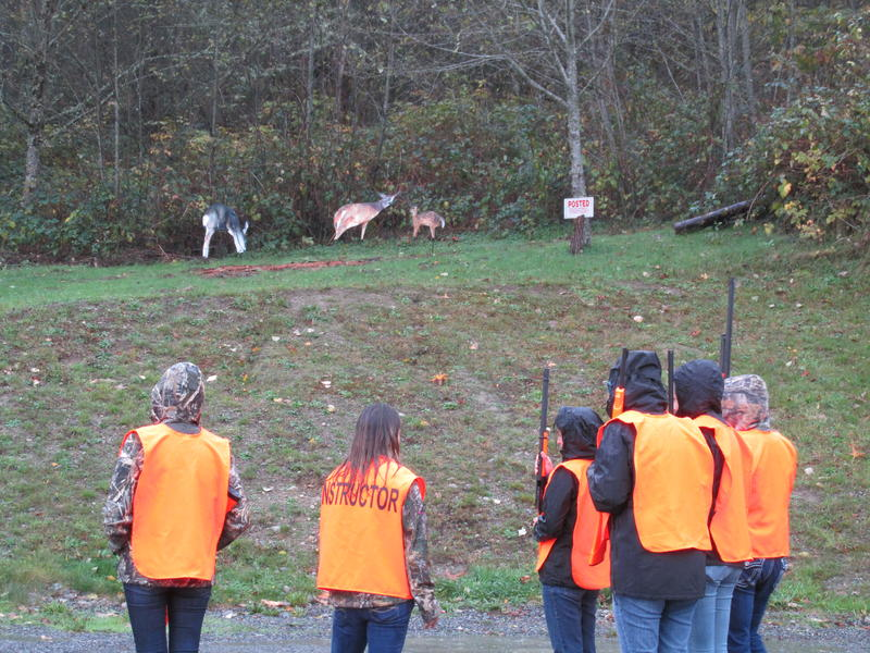Instructor Megan Shaeffer takes participants in the state's first women-only hunting class on Nov. 7 in Black Diamond through a scenario over whether it's ethical, legal and safe to shoot.