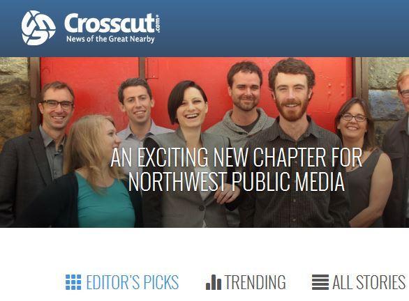 Screenshot of the cover of Crosscut.com.