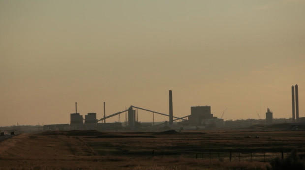 A coal-fired power plant in Wyoming. Burning coal is the world's leading source of carbon pollution and it has a direct impact on global climate change and the future of the world's oceans.