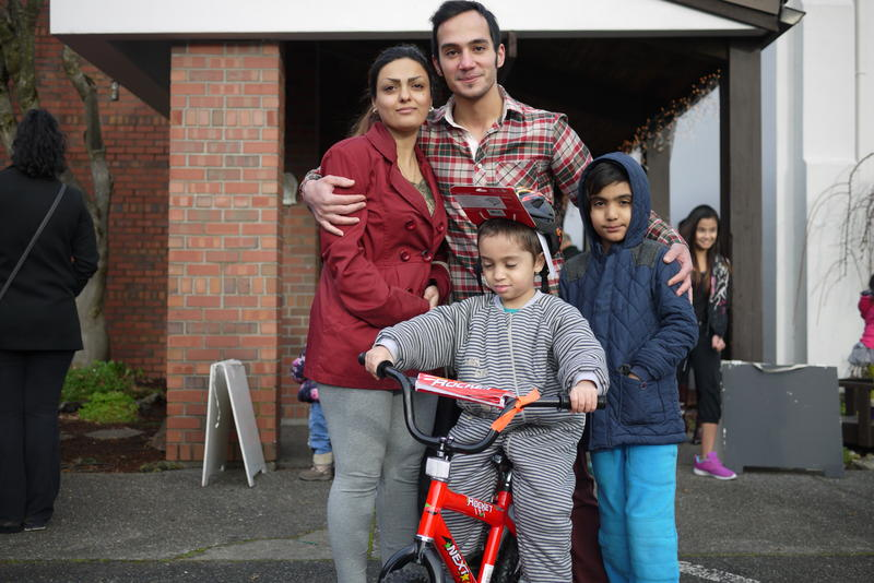 This Iranian refugee family was resettled in Kent this year. It's their first Christmas in the U.S.