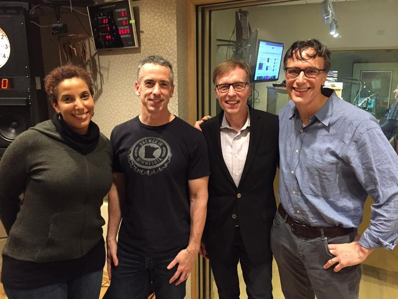 'Week in Review' panel Melanie McFarland, Dan Savage, Rob McKenna and KUOW's Bill Radke.
