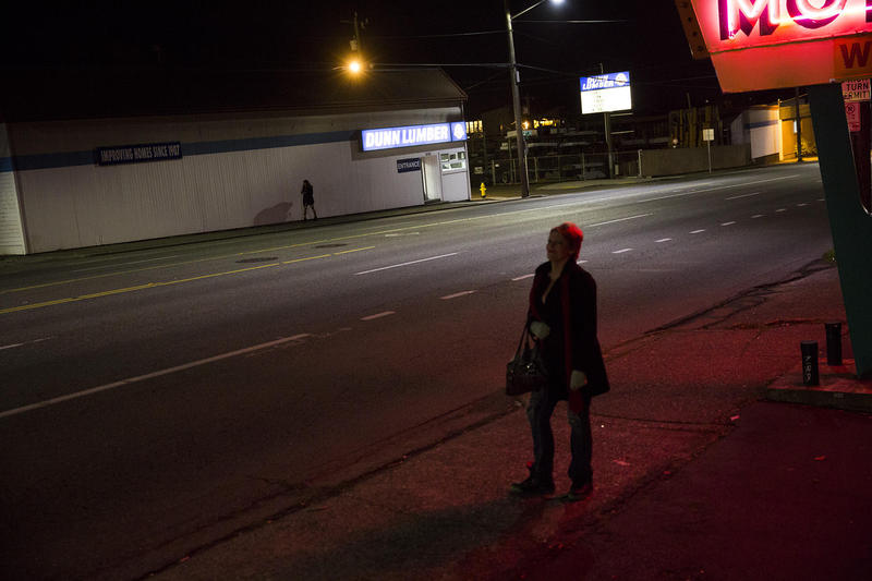 Women charge between $20 and $40 a trick, although when times are tough, they charge as little as $5. Men haggle on Aurora Avenue North because they know the women are desperate.