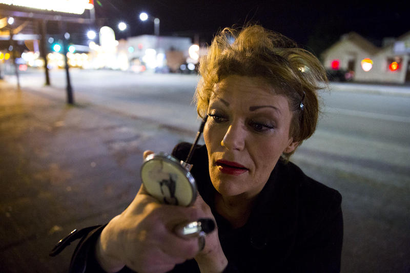 Ericka Frodsham is one of 50 to 60 prostitutes who work on Aurora Avenue North, known as a track. This is one of two tracks where prostitutes work in the Seattle area. Photographer Mike Kane followed her one evening, separately from the story below.