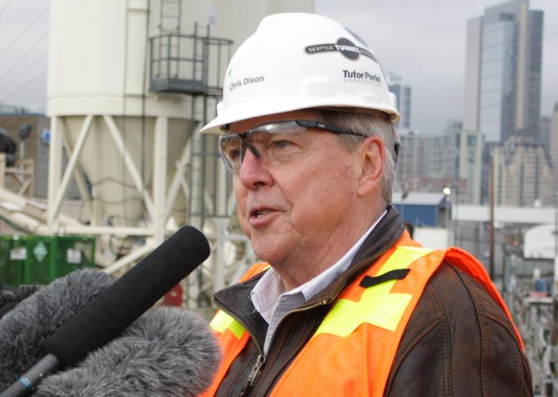 Chris Dixon of Seattle Tunnel Partners speaks about Bertha's status on Dec. 23, 2015.