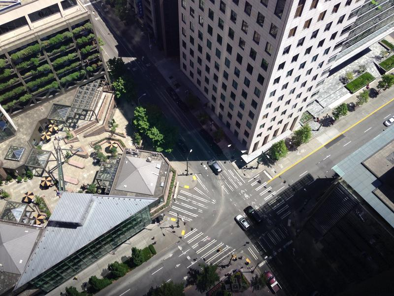 A view from the Columbia Tower in downtown Seattle. Sheriff John Urquhart offered three tips on what to do if a shooter enters a building: run, hide or fight like hell -- in that order.