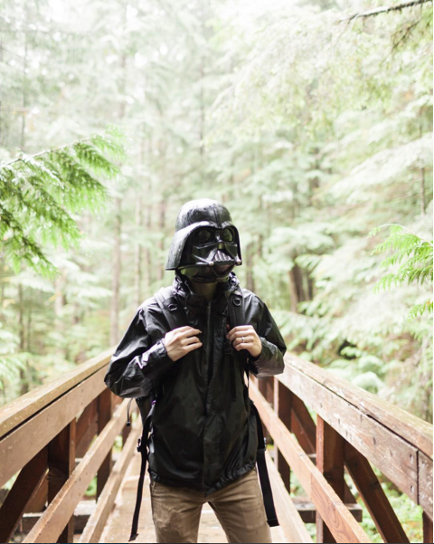 Vader takes a hike.