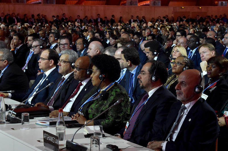 World leaders at the COP 21 in Paris, France.