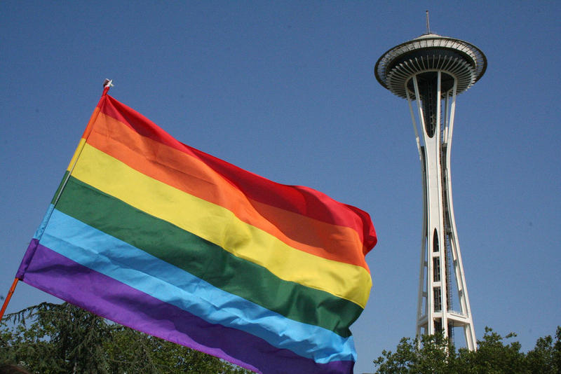 Pride flag Seattle LGBTQ