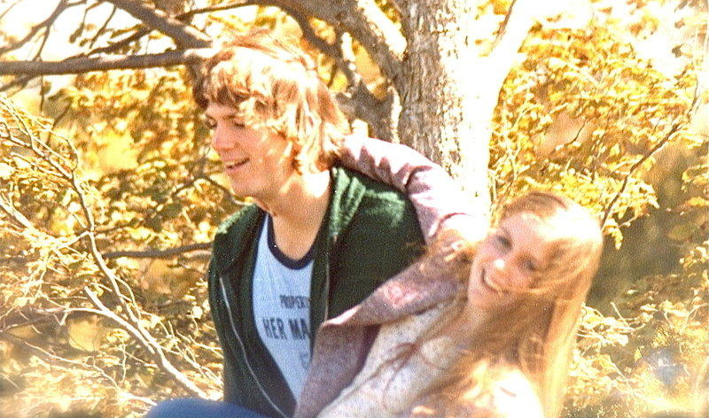 Writer Sonya Lea and her husband Richard Bandy in high school in the 1970s.