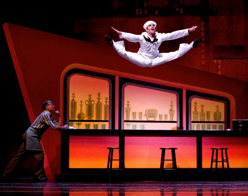 Jonathan Porretta in Jerome Robbins' 'Fancy Free.' Porretta, 34, is a principal dancer at Seattle's Pacific Northwest Ballet.