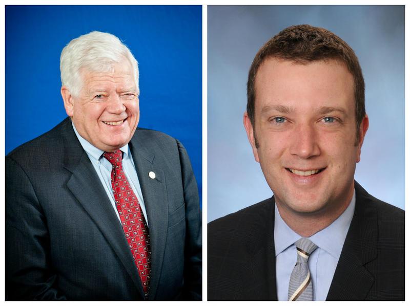 Jim McDermott, left, and James Joseph McDermott, right. Jim is retiring and Joe wants his spot.