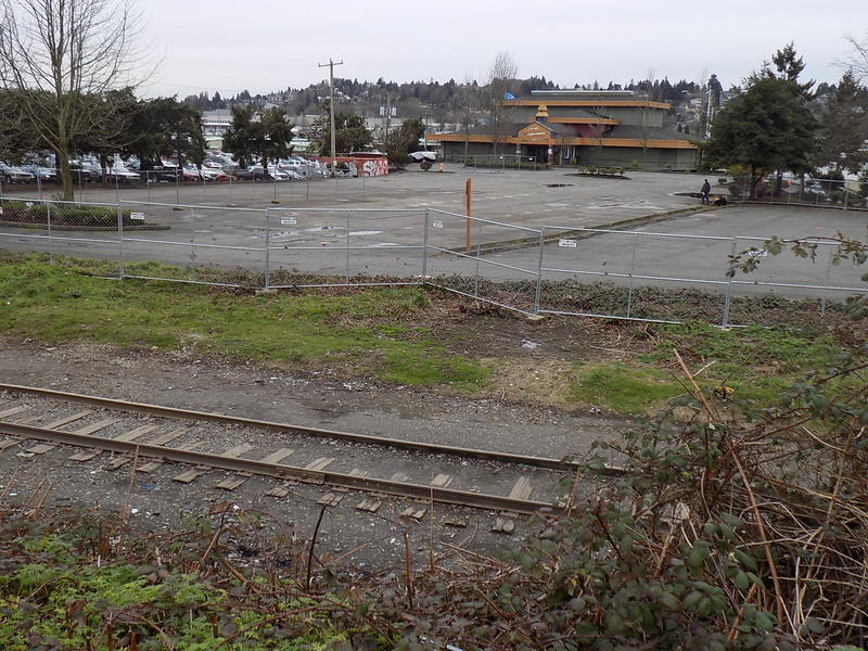 The parking lot outside the former Yankee Diner in Ballard will have space for up to 32 vehicles. The city plans to provide security, water, sanitation and garbage service.