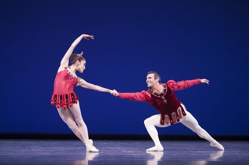 Leta Biasucci and Jonathan Porretta in George Balanchine's 'Rubies.'