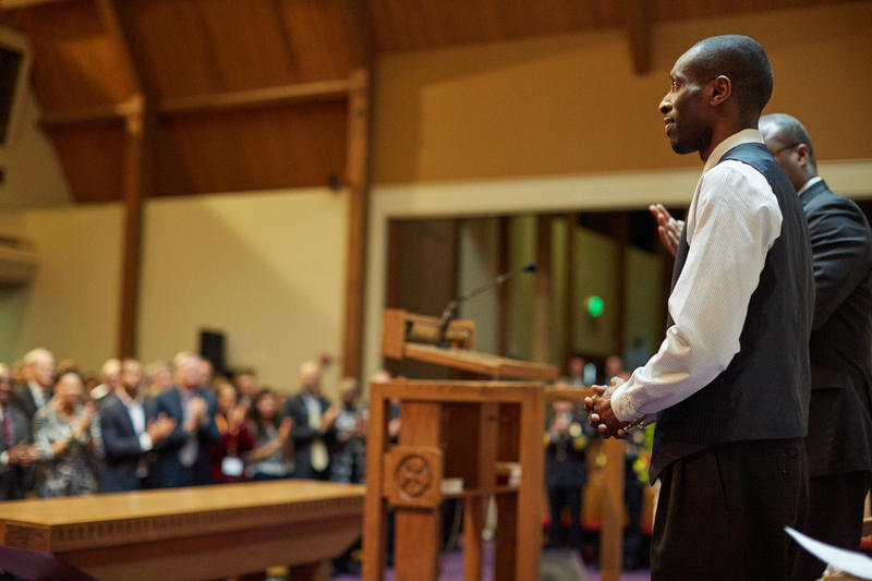 Marcus Green at Seattle's Mount Zion Baptist Church on Jan. 15, 2016.