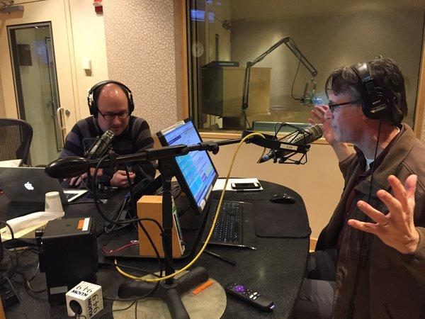 Todd Bishop and KUOW's Bill Radke geek out over nausea-free virtual reality in the KUOW studios.