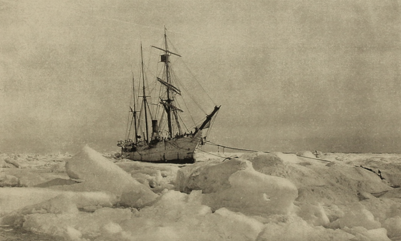 The U.S.S. Bear, a cutter that was dispatched by President McKinley to rescue the Belvedere and other ice-bound whaling ships. The Bear wasn't able to break through the ice to Point Barrow until July 28, 1898. Today, there is no ice.