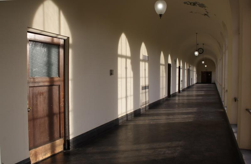 A floor of classrooms in the Saint Edward seminary building