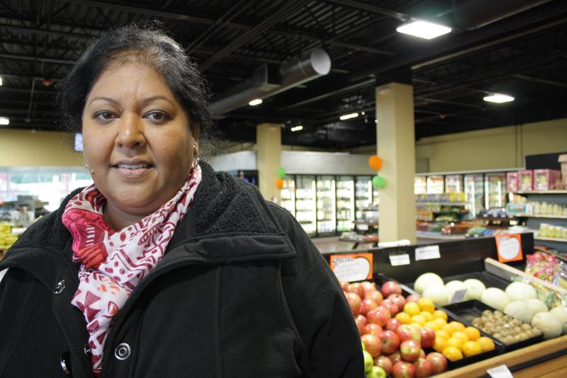 Sangeeta Ghuman runs the Indian Grocery store at International Plaza in Kent.