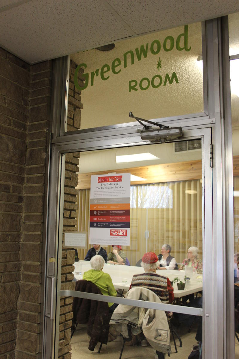 The Living Alone group meets twice a month at the Greenwood Senior Center.