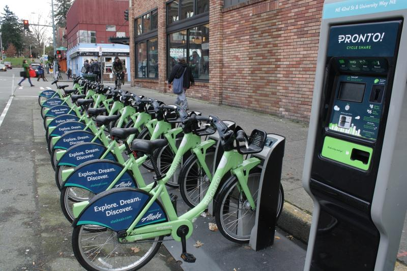 Pronto Bikes in Seattle's University District