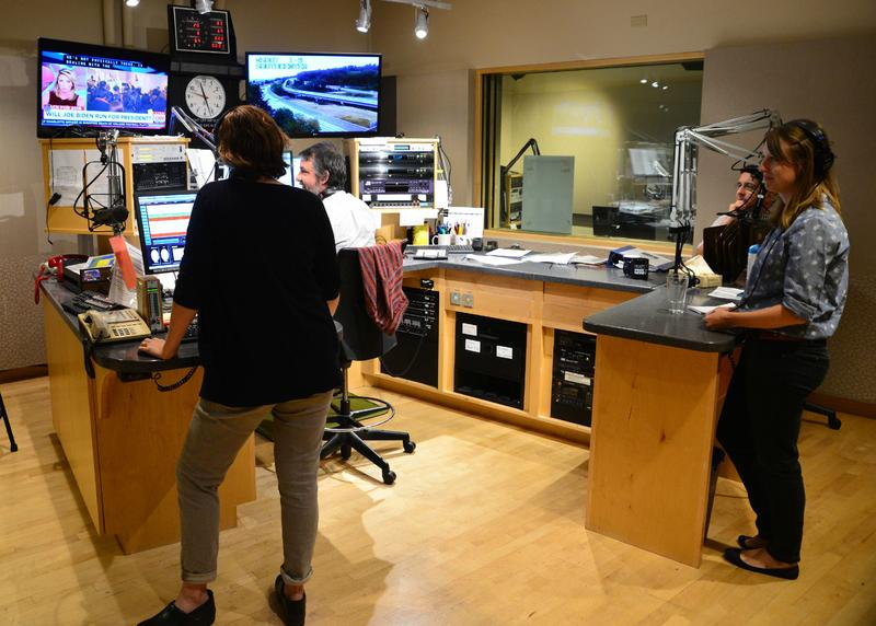 KUOW control room studio record