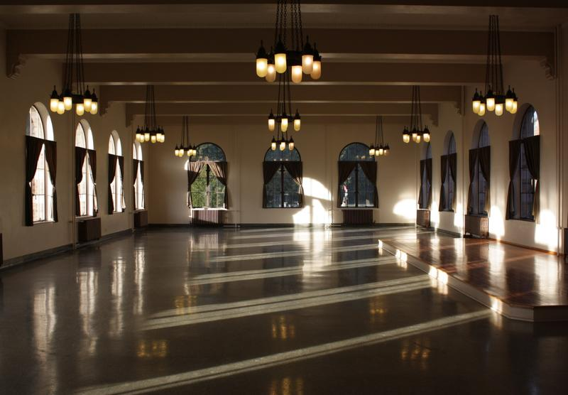 The dining hall at the Saint Edward seminary building is a rare part of the complex currently in good condition.