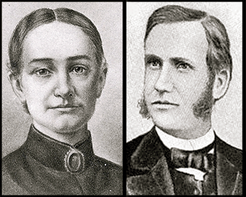 Narcissa and Marcus Whitman, missionaries from New York for whom Whitman College is named. They were killed by Native Americans angered after they helped to spread measles, which decimated a tribe.