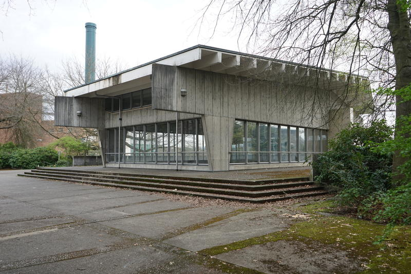 More Hall Annex on UW campus. The building is an example of brutalism architecture.