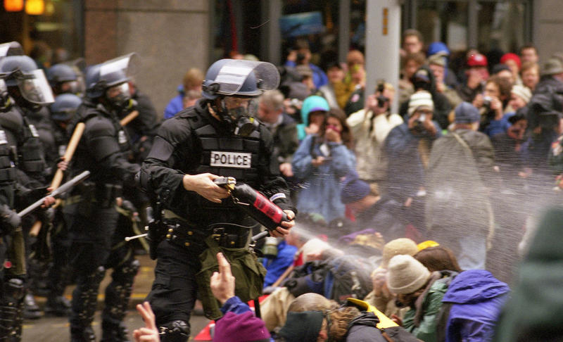 WTO protests in Seattle, November 30, 1999.
