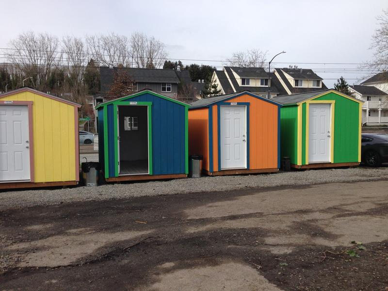 There are eight tiny houses in Othello Village. The non-profit group Low Income Housing Institute is raising to build more for the Southeast Seattle encampment.